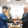 社会活動の一環として小野中学校に不織布マスク1500枚を寄付